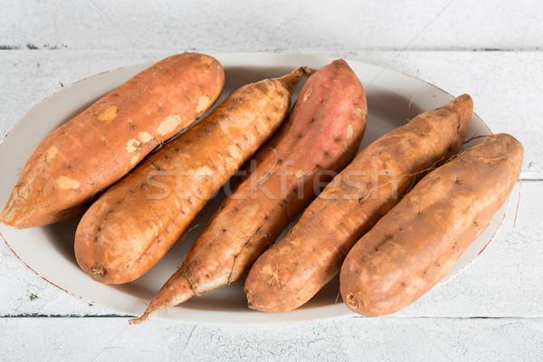 édes krumpli évszak nyers frissen kész Stock fotó © fotoedu