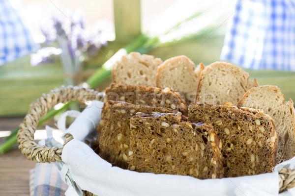 Varied bread cut to slices Stock photo © fotoedu
