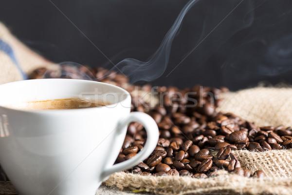 кофе природного землю ароматический Сток-фото © fotoedu