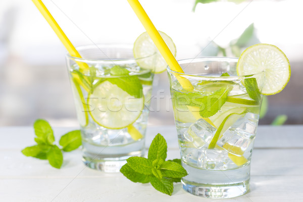 Mojito kireç içmek kokteyl rom taze Stok fotoğraf © fotoedu