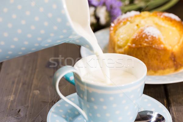 Reggeli tej házi készítésű piskóta étel bár Stock fotó © fotoedu