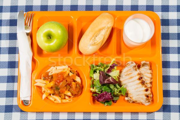 Stock photo: Tray of food