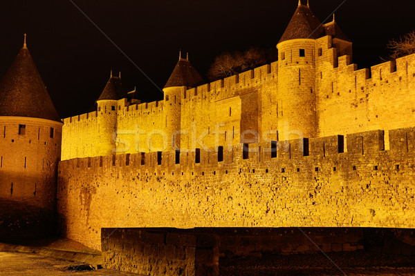 Castle and walls of Carcassonne Stock photo © fotoedu