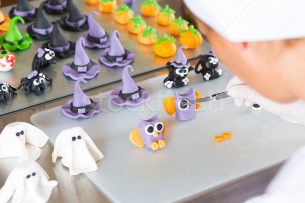 Confectioner with figures of halloween Stock photo © fotoedu
