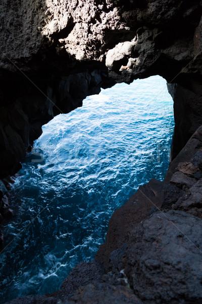 Cliffs in Lanzarote Stock photo © fotoedu