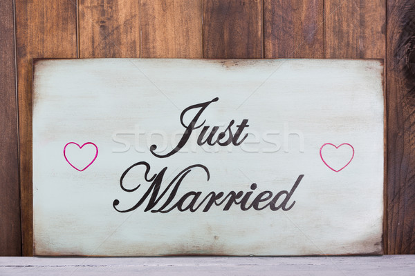 Poster Just Married Stock photo © fotoedu