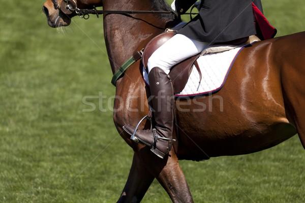Hochsprung Wettbewerb bereit Frau Sport Stock foto © fotoedu