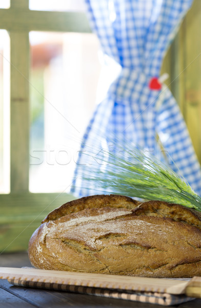 Brood brood bar rustiek tabel mais Stockfoto © fotoedu