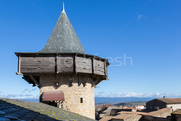 Fortress walls in Carcassonne France Stock photo © fotoedu
