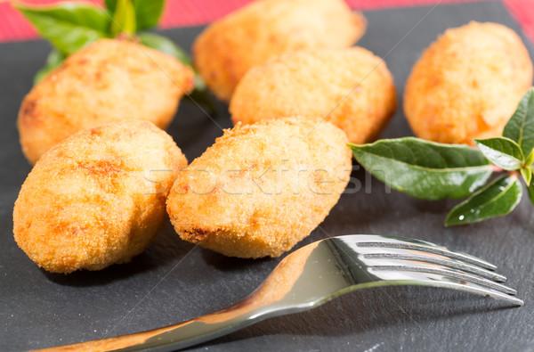 Delicioso recheado presunto queijo comida festa Foto stock © fotoedu