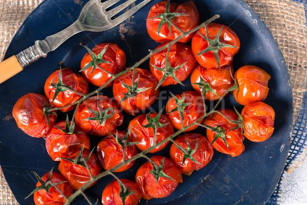 помидоры черри приготовленный печи таблице пластина Сток-фото © fotoedu