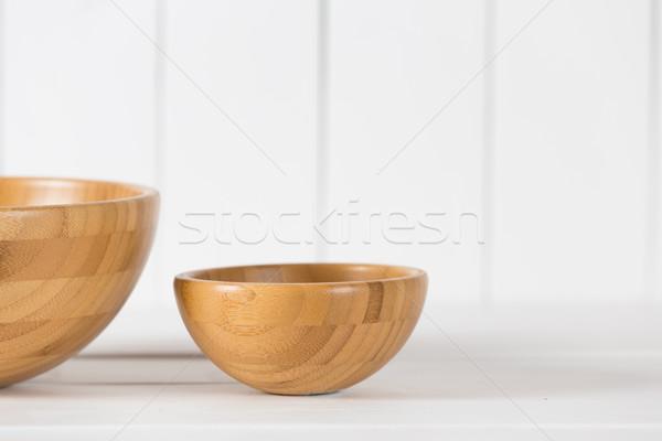 Fából készült tál üres klasszikus konyha retro Stock fotó © fotoedu