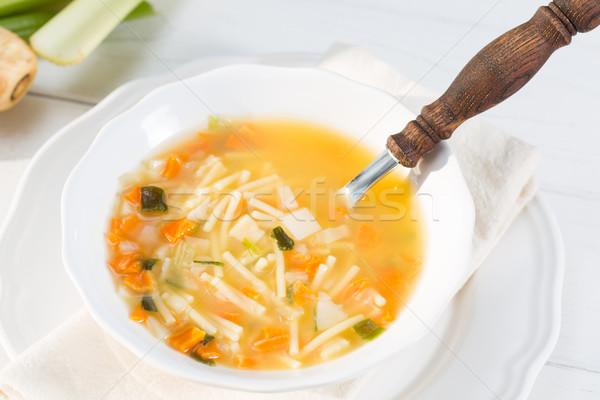 Caseiro sopa naturalismo ingredientes saudável verde Foto stock © fotoedu