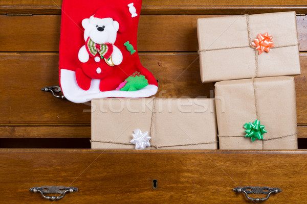 Stock photo: Gift boxes for Christmas