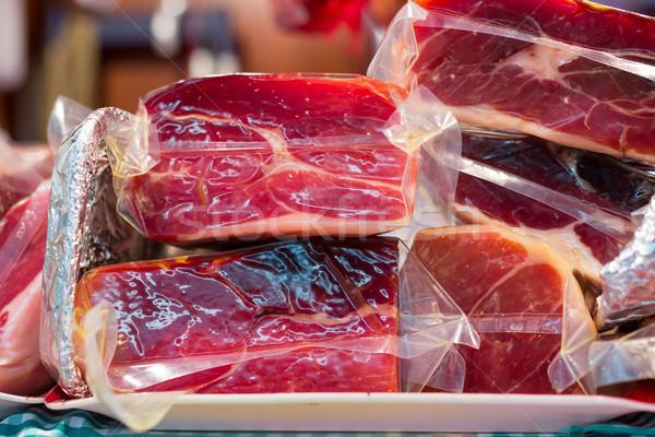 Sonka háttér reggeli kövér fehér eszik Stock fotó © fotoedu
