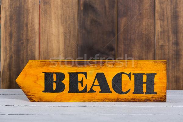 Irányítás felirat tengerpart kézzel készített festett Stock fotó © fotoedu