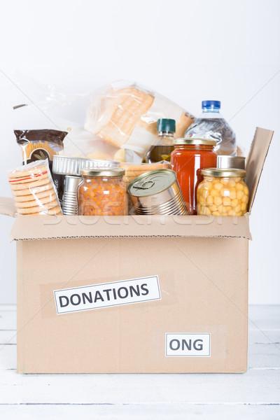 безопасности пищевых продуктов жилье продовольствие пожертвование бедные Сток-фото © fotoedu