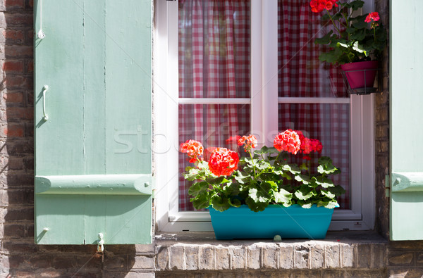 Window with wooden shutters Stock photo © fotoedu