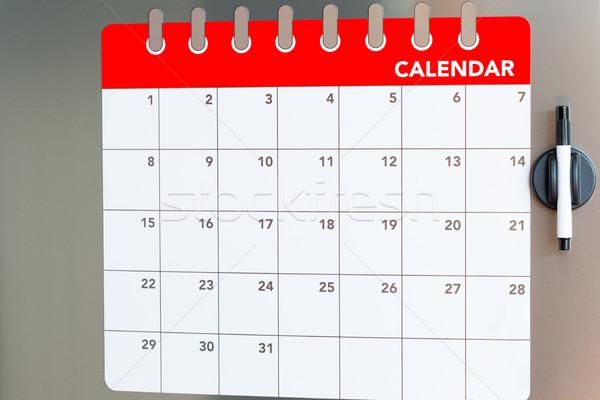 ежемесячно календаря холодильник лет Сток-фото © fotoedu