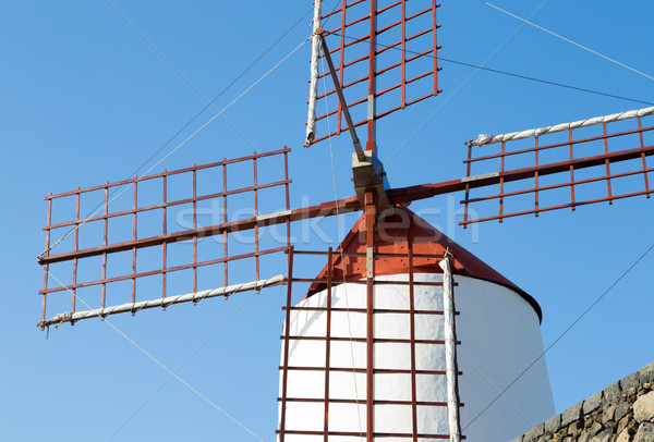 Molino de viento isla canarias España nube pradera Foto stock © fotoedu