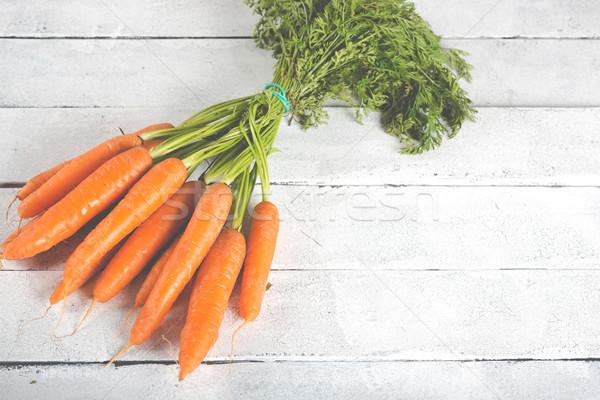 свежие морковь Vintage таблице бизнеса Сток-фото © fotoedu