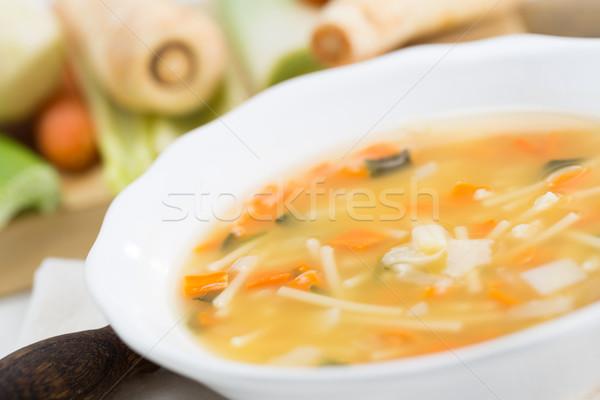 Homemade soup Stock photo © fotoedu