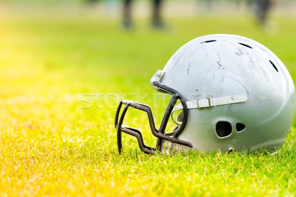 американский футбола шлема области трава Сток-фото © fotoedu