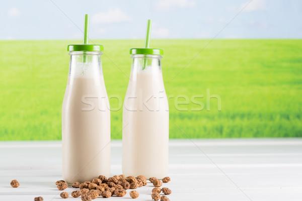 Finom ital víz desszert folyadék édes Stock fotó © fotoedu