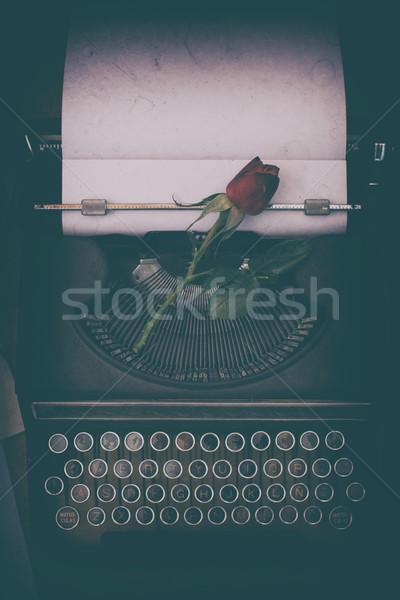 Antique typewriter Stock photo © fotoedu