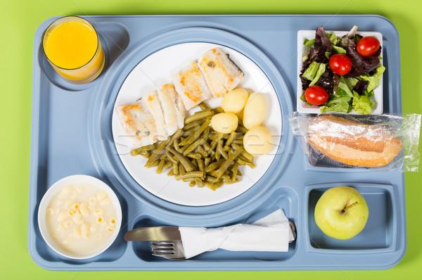 Meal tray of a hospital Stock photo © fotoedu