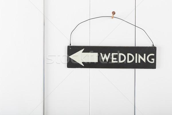 знак свадьба подвесной стены указывая Сток-фото © fotoedu