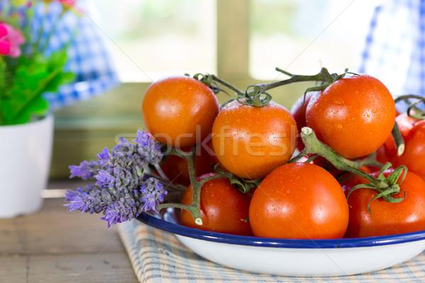 Ripe tomatoes spread Stock photo © fotoedu
