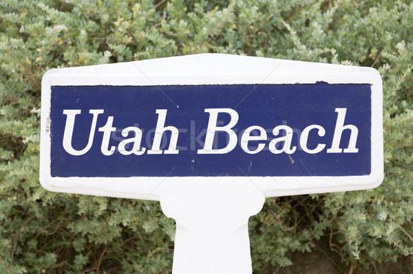 Utah beach sign Stock photo © fotoedu