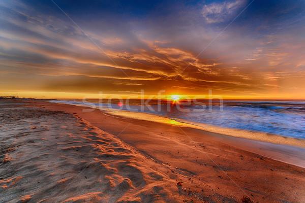 Sunrise beach Stock photo © fotoedu
