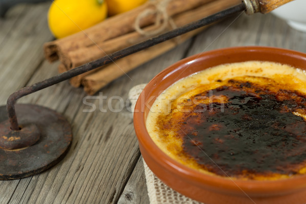 Catalan cream Stock photo © fotoedu