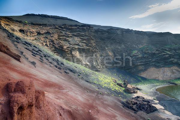 湖 緑 カナリア諸島 スペイン 自然 美 ストックフォト © fotoedu