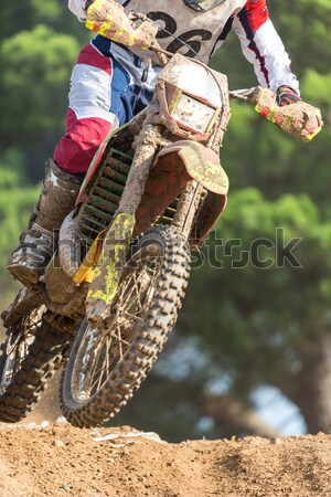 Motocross bisiklet uluslararası şampiyonluk adam Stok fotoğraf © fotoedu