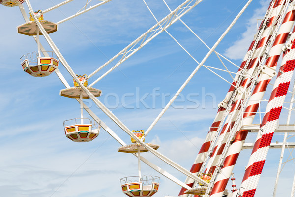 Ferris wheel against a blue sky Stock photo © fotoedu