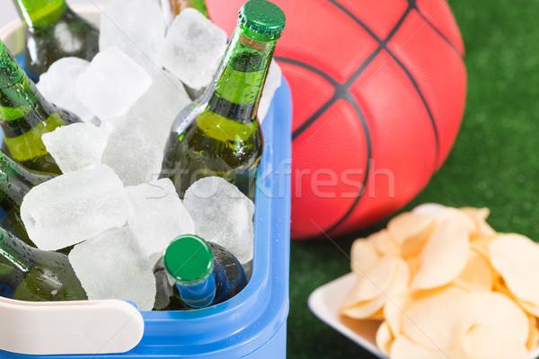 Friss sör tengerpart sport labda üveg Stock fotó © fotoedu