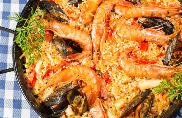 Paella Valenciana Stock photo © fotoedu