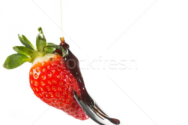 Fragola forcella sciroppo foglia frutta Foto d'archivio © fotoedu