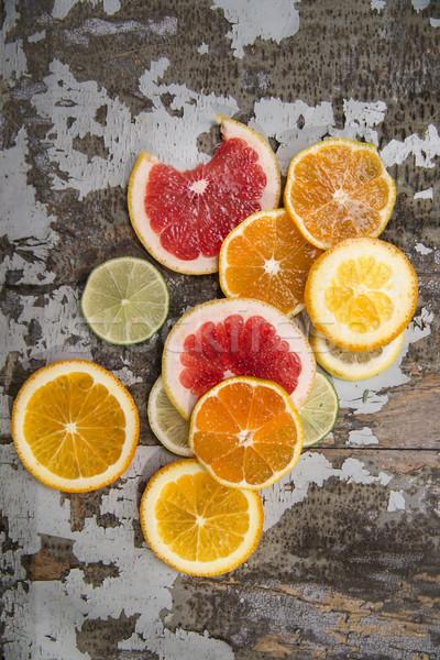 Colores agrios frutas mezcla rebanadas Foto stock © Fotografiche