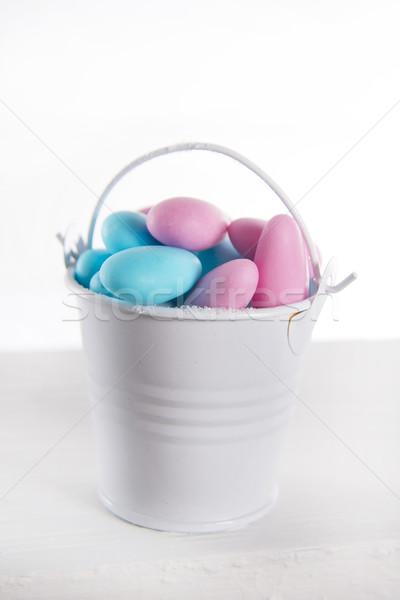 Mavi pembe renkli şeker tanıtım Stok fotoğraf © Fotografiche