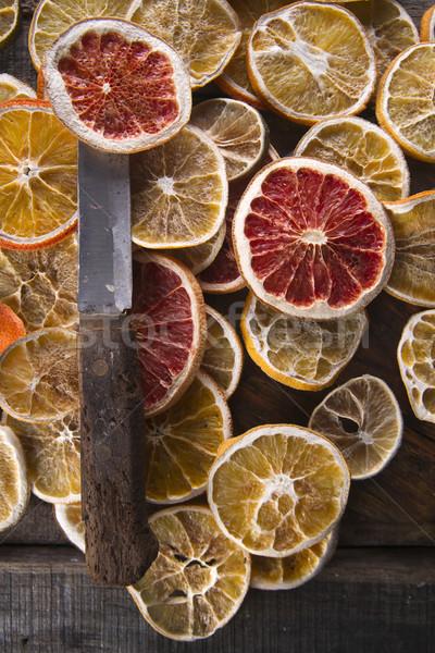 Fatias secas cítrico conjunto diferente frutas Foto stock © Fotografiche