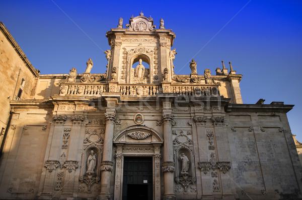 Lecce square of the cathedral Stock photo © Fotografiche