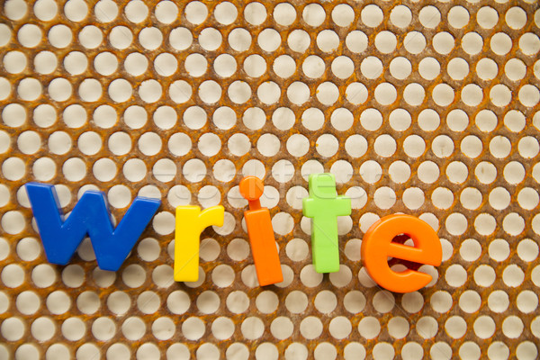 Brieven nummers witte achtergrond mail schrijven Stockfoto © Fotografiche