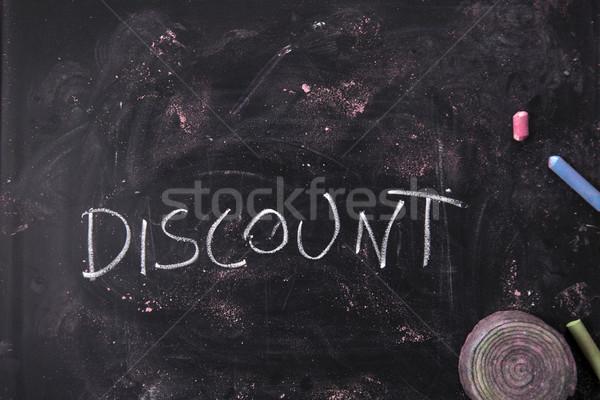 écrit tableau noir mot craie affaires fond Photo stock © Fotografiche