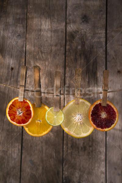 Renkler narenciye tanıtım dilimleri su Stok fotoğraf © Fotografiche