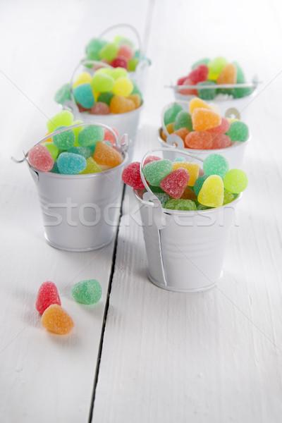 Tarka puha cukorkák bemutató kicsi tele Stock fotó © Fotografiche