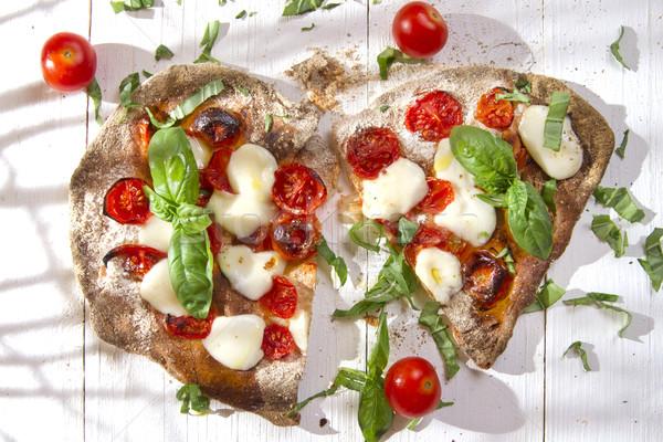 Pizza volkoren meel glucose restaurant Rood Stockfoto © Fotografiche